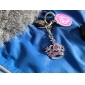 Red Rhinestone Decorated Crown Style Collar Charms for Dogs Cats