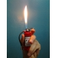 Extinguisher Shape Metal Gas Lighter with Light