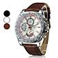 Men's Racing Design Dial PU Leather Band Quartz Wrist Watch (Assorted Colors)