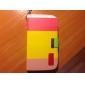 삼성 갤럭시 그랜드 DUOS I9082 (분류 된 색깔)를위한 대와 카드 구멍을 가진 PU 가죽 가득 차있는 몸 케이스