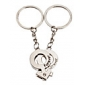 1-Pair Aluminum Male and Female Tag Couple Keychain