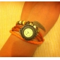 Women's Quartz Analog Sunflower Style Case Leather Band Bracelet Watch (Assorted Colors)