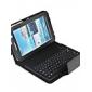 Case com Teclado QWERTY Bluetooth 3.0 e Suporte para Samsung Galaxy Tab 2 P3100