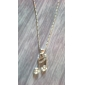Rhinestone Note Shaped Necklace