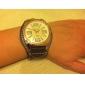 Strój męski zegarek zegarek duży pokrętło płowy