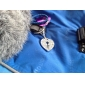 라인 스톤이 개 고양이에 대한 심장 잠금 스타일의 칼라의 매력을 장식