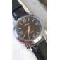 chiffres romains des hommes en noir PU bande de montre-bracelet à quartz
