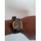 שעון יוניסקס רב תפקודי LCD הדיגיטלי צהוב שחור מקרה להקה ספורטיבי פרק כף היד