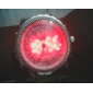 남성 스포츠 시계 일본 쿼츠 LED / 달력 / 크로노그래프 / 방수 / 듀얼 타임 존 / 경보 스테인레스 스틸 밴드 손목 시계 실버