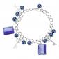 z&x® rectángulo esmaltes de colores con la pulsera de perlas de vidrio