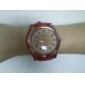 PU Quartz analógico relógio de pulso da Mulher (cores sortidas)