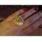 טבעת הפנינה משובצת של הנשים האלגנטית עלתה
