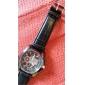 Hombre Reloj Cuarzo Reloj de Vestir PU Banda Reloj de Pulsera