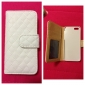 PU Leather Full Body Case with Card Slot and Magnetic Snap for iPhone 5/5S (White)