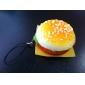 Hamburger douce en forme de porte-clés (couleurs aléatoires)