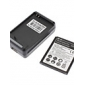 3.7V 2500mAh akku ja USB-laturi Samsung Galaxy S3 I9300