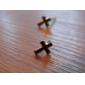La Croix Boucles d'oreilles en métal