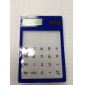 Transparent Touch Pad Solar Power Desktop Calculator (Assorted Color)
