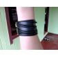 Estilo Retro Punk PU Leather Design Pulsera Stripe