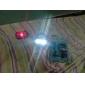 bicicleta 7-mode 5-led vermelho luz da cauda luz de segurança de advertência (2x AAA)