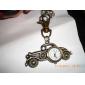 Unisex-Legierung Analog Quarz Schlüsselbund Uhr mit Retro-Auto (Bronze)
