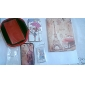 Tyttö Holding Umbrella Pattern PU Leather Case Stand for Samsung Galaxy S3 I9300
