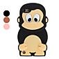 3D Design Pattern Caso bonito macaco macio para o iPod Touch 5 (cores sortidas)