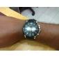 des hommes de silicone analogique montre-bracelet à quartz (couleurs assorties)