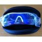 Unisex Blue Revo Lens White & Red Frame Polarized Semi-Rimless Sports Glasses