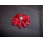 Flower and Spot Pattern Tiny Rubber Band Hair Bow for Dogs Cats