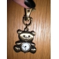 Cute Bear of Unisex Alloy Analog Quartz Keychain Watch (Bronze)