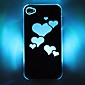 LED Cellphone Flash Heart Pattern Hard Case for iPhone 4/4S (Assorted Colors)