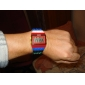 Hombre Mujer Unisex Reloj de Moda Reloj Madera Reloj digital Digital LCD Calendario Cronógrafo alarma Plastic Banda Caramelo Cool