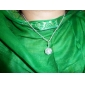 Necklace Pendant Necklaces Jewelry Daily Fashion Gem Silver 1pc Gift