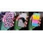 Capa Rígida com Moldura TPU Estilo Arco-íris Transparente com Protetor e Tecido para Limpeza para iPhone 4/4S (Cores Opcionais)