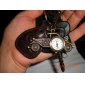 Unisex Alloy Analog Quartz Keychain Watch with Retro Car (Bronze)