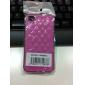 Ruutukuvioinen PU-nahkakuori iPhone 4 / 4S:lle (värivalikoima)