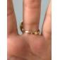Kullattu metalliseos Button Pattern Ring (eri värejä)