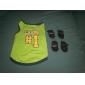 Cani T-shirt-Estate Lettere & Numeri-Verde- diCotone