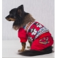 Winter Style Snowman Pattern Cotton Hoodie Coat for Dogs (XS-XL,Red)