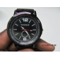 Men's Plastic Analog Quartz Wrist Watch (Black)