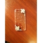 Zircon Silver Flowers Pattern Hard Case for iPhone 5/5S(Transparent)