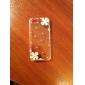 florece la caja dura de circón plata patrón para el iphone 5/5s (transparente)