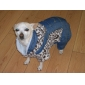 Retro Style Leopard Fleeces Warm Suspenders for Dogs (XS-L)