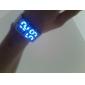 Silberne Herren Uhr mit blauer LED Anzeige