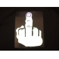 Sound and Music Activated Hand Gesture Pattern LED T-shirt (3 x AAA Batteries)