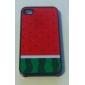Vesimeloni kuvioinen kova kuori samealla kiilokkeella iPhone 4/4S:lle (monivärinen)