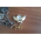 Gold Beetle Style Quartz Analog Keychain Watch