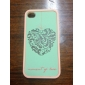 Protective Polycarbonate Bumper and Back Cover for iPhone 4 and iPhone 4S (Green Flowers)