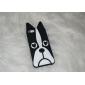 noir étui souple de modèle de chien pour iphone 5/5s